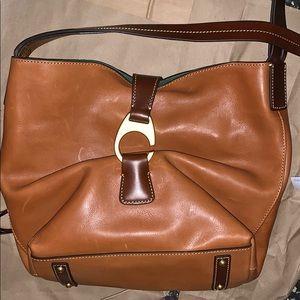 Dooney and bourke tan leather shoulder bag